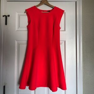 H&M Hot Pink Sleeveless Skater Dress